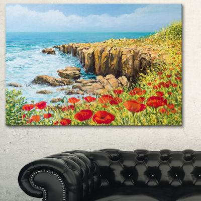 Designart Summer Breeze Landscape Art Print Canvas- 3 Panels