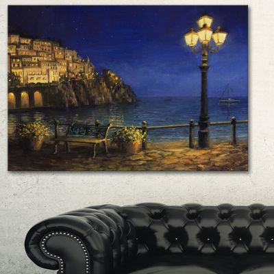 Designart Summer Evening In Amalfi Landscape Art Print Canvas