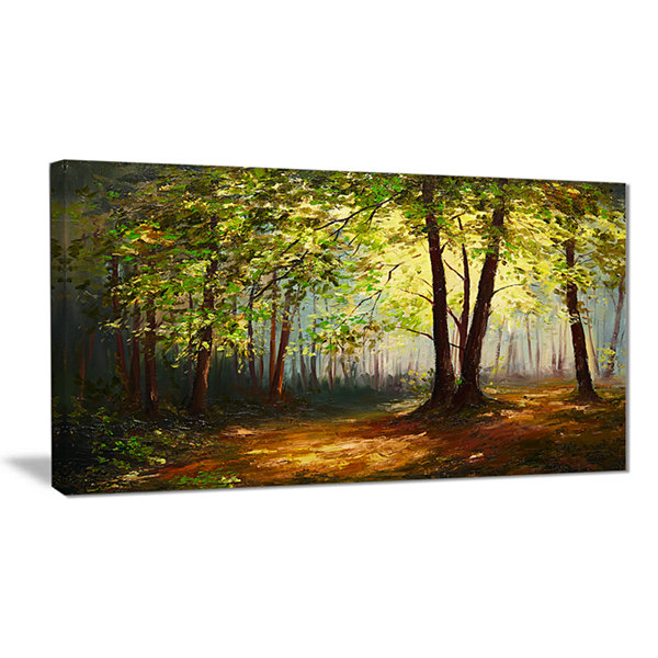 Designart Summer Forest Landscape Art Print Canvas