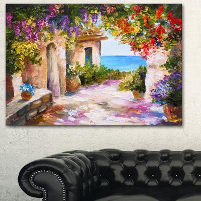 Designart Summer Seascape Landscape Art Print Canvas