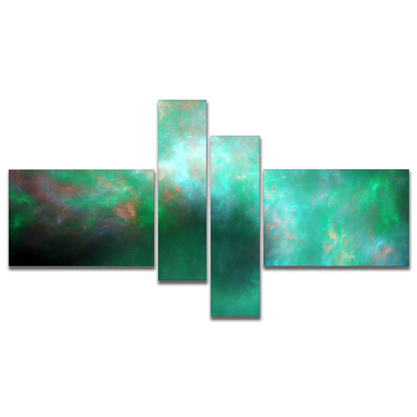 Designart Perfect Clear Blue Starry Sky MultipanelAbstract Canvas Art Print - 4 Panels