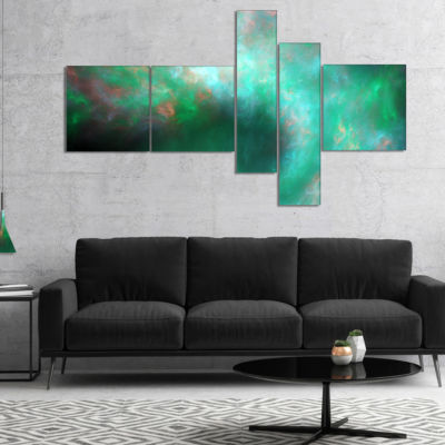 Designart Perfect Clear Blue Starry Sky MultipanelAbstract Canvas Art Print - 5 Panels