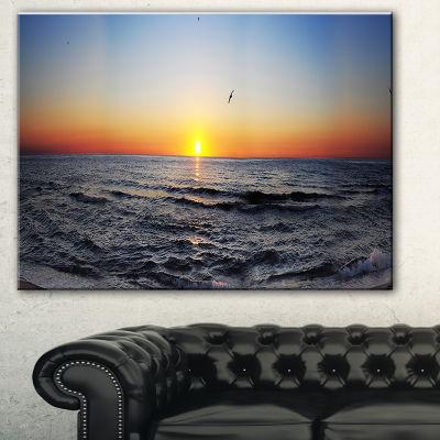 Designart Sunrise At Sea Panorama Photography Canvas Art Print