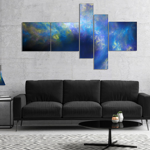 Designart Perfect Whirlwind Starry Sky MultipanelAbstract Canvas Art Print - 5 Panels
