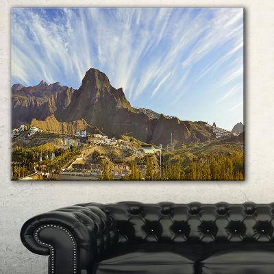 Designart Sunrise Over Ei Teide National Park Landscape Art Print Canvas - 3 Panels