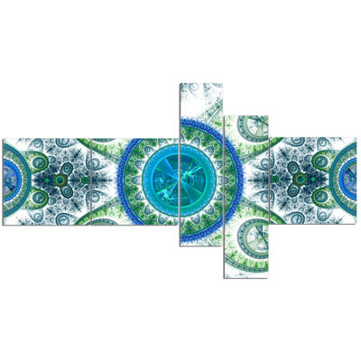 Designart Blue Psychedelic Relaxing Art MultipanelAbstract Canvas Art Print - 5 Panels