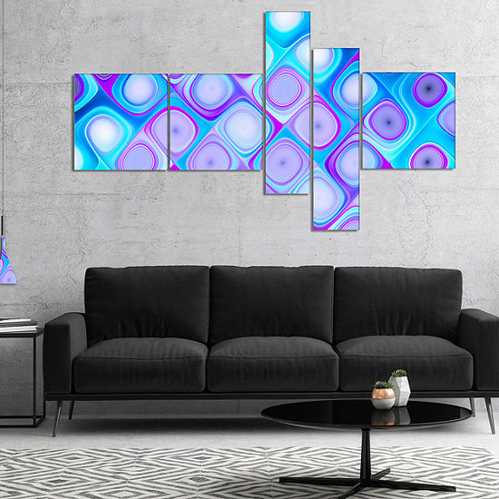 Design Art Blue Purple Pattern With Swirls Multipanel Abstract Wall ...