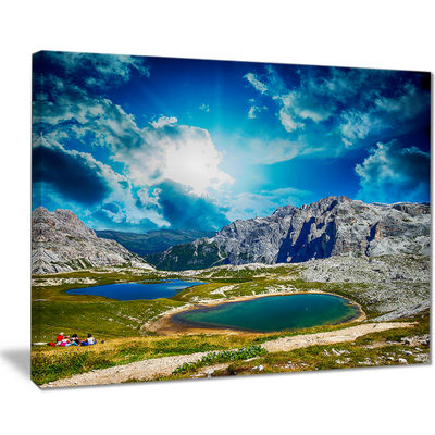 Designart Sunset Over Alpine Lakes Landscape Photography Canvas Print