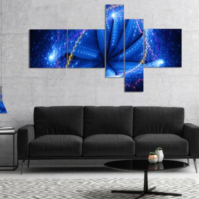 Designart Blue Star Clusters Multipanel AbstractCanvas Wall Art - 5 Panels