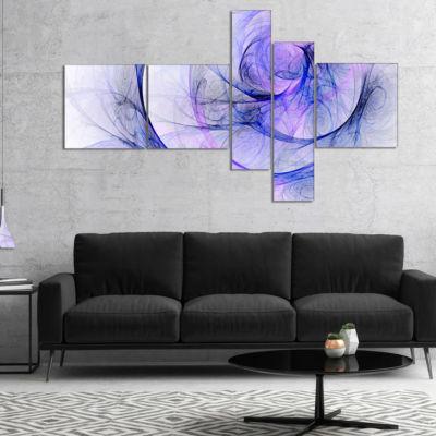 Designart Blue Storm Sky Multipanel Abstract Canvas Art Print - 4 Panels