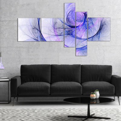 Designart Blue Storm Sky Multipanel Abstract Canvas Art Print - 5 Panels