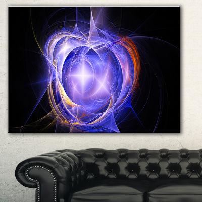 Designart Supernova Explosion Blue Abstract PrintOn Canvas - 3 Panels