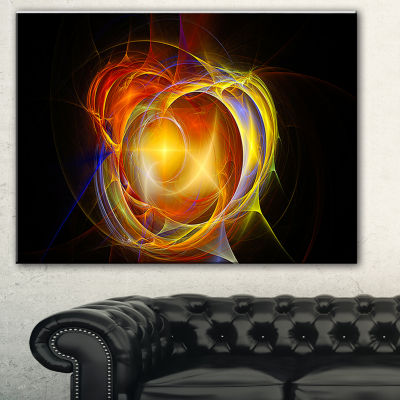 Designart Supernova Explosion In Black Abstract Print On Canvas - 3 Panels