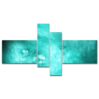 Designart Blur Blue Sky With Stars Multipanel Abstract Canvas Art Print - 4 Panels
