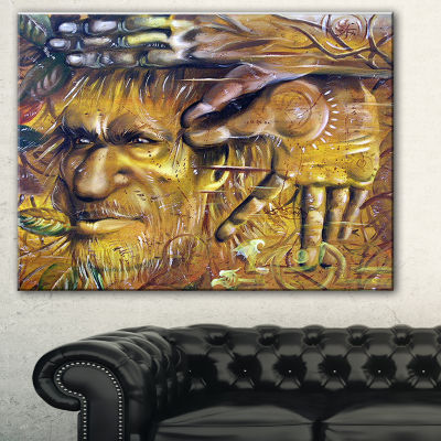 Designart Sylvan Abstract Portrait Canvas Print