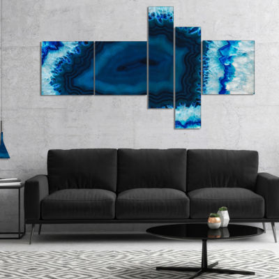 Designart Brazilian Thunder Egg Multipanel Abstract Canvas Wall Art Print - 5 Panels