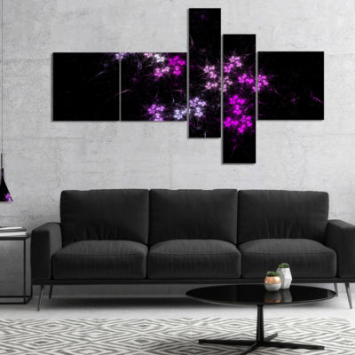 Designart Placer Stars In Distant Galaxy Multipanel Abstract Wall Art Canvas - 5 Panels