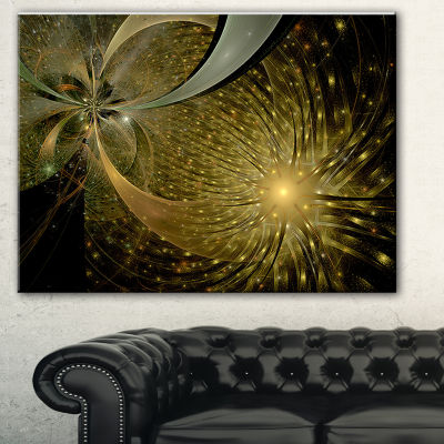 Designart Symmetrical Firework Pattern Abstract Print On Canvas - 3 Panels