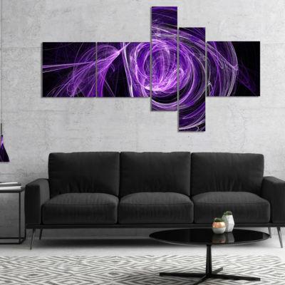 Designart Purple Ball Of Yarn Multipanel AbstractCanvas Art Print - 4 Panels