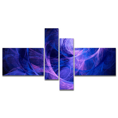 Designart Bright Blue Stormy Sky Multipanel Abstract Canvas Art Print - 4 Panels