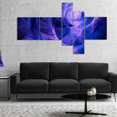 Designart Bright Blue Stormy Sky Multipanel Abstract Canvas Art Print - 5 Panels