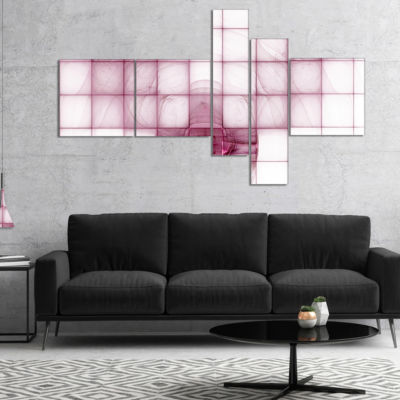 Designart Purple Bat On Rader Screen Multipanel Abstract Canvas Art Print - 4 Panels