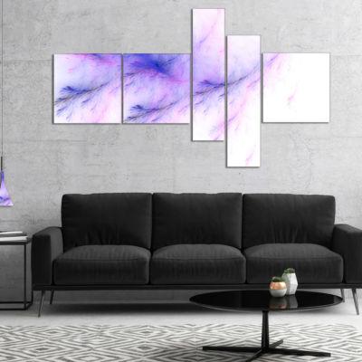 Designart Bright Blue Veins Of Marble MultipanelAbstract Wall Art Canvas - 4 Panels