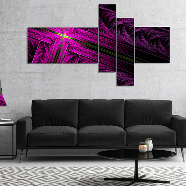 Designart Bright Flash At The Intersection Multipanel Abstract Canvas Art Print - 5 Panels