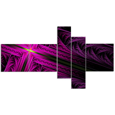 Design Art Bright Flash At The Intersection Multipanel Abstract Canvas Art Print - 5 Panels