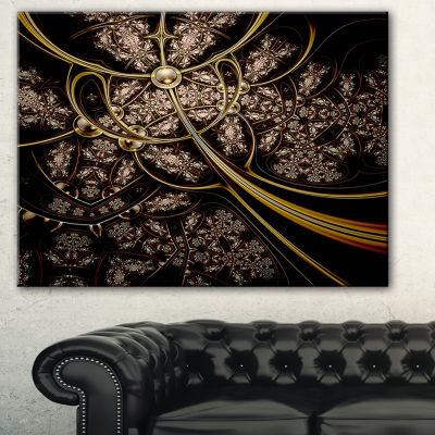 Designart Symmetrical Metallic Fabric Abstract Print On Canvas - 3 Panels