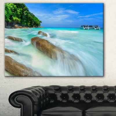 Designart Tachai Island In Thailand Landscape Photography Canvas Art Print - 3 Panels
