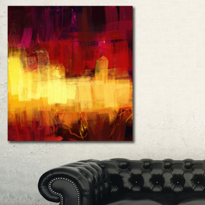 Designart Textured Effect Digital Abstract Art Abstract Canvas Print