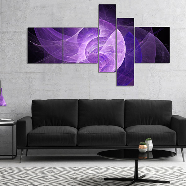 Designart Purple Mystic Psychedelic Design Multipanel Abstract Art On Canvas - 4 Panels