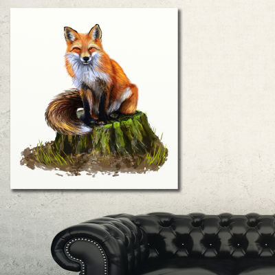 Designart The Clever Fox Illustration Animal ArtOnCanvas