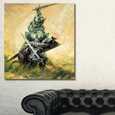 Designart The Duel Modern Canvas Artwork - 3 Panels