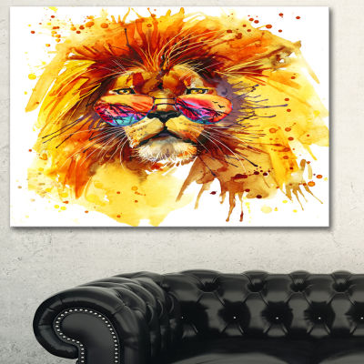 Designart The King Watching Animal Art Painting