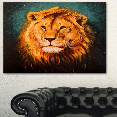 Designart The Lion Of Judah Animal Art On Canvas-3Panels