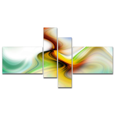 Designart Rays Of Speed Curved Multipanel AbstractCanvas Art Print - 4 Panels