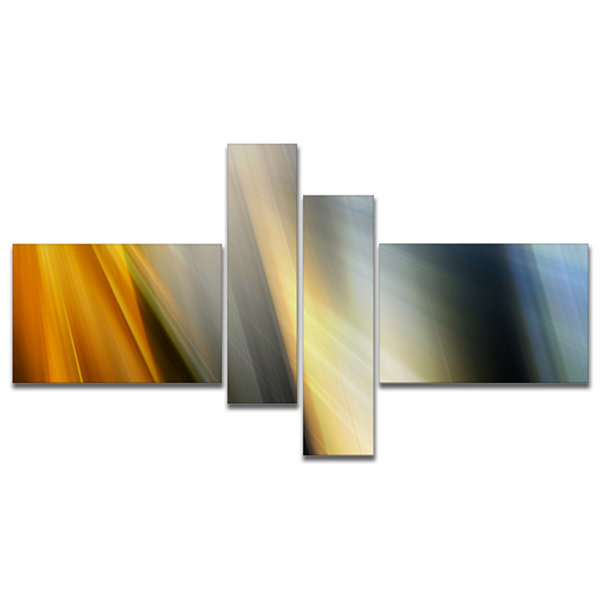 Designart Rays Of Speed Vertical Multipanel Abstract Canvas Art Print - 4 Panels