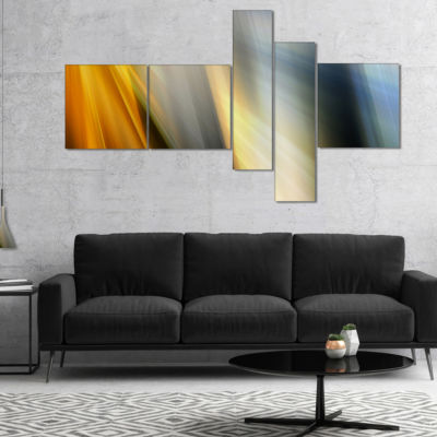 Designart Rays Of Speed Vertical Multipanel Abstract Canvas Art Print - 5 Panels