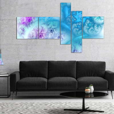 Designart Clear Blue Magic Stormy Sky Multipanel Abstract Canvas Art Print - 4 Panels