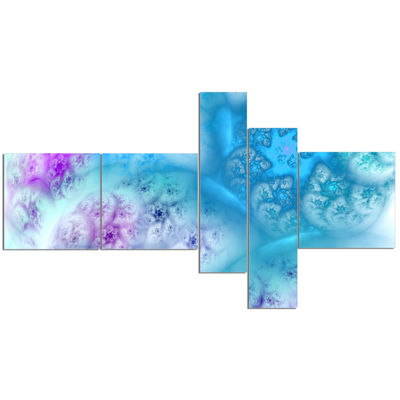 Designart Clear Blue Magic Stormy Sky Multipanel Abstract Canvas Art Print - 5 Panels