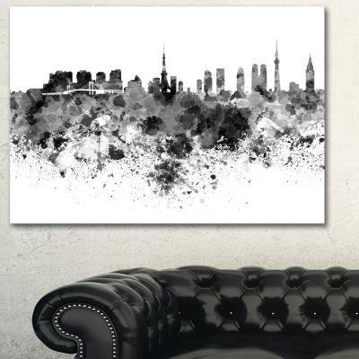 Designart Tokyo Skyline Large Cityscape Canvas Artwork Print - 3 Panels