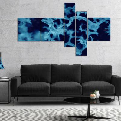 Designart Cloudy Abstract Blue Texture MultipanelAbstract Canvas Art Print - 4 Panels
