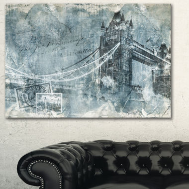 Designart Tower Bridge London Contemporary CanvasArt Print