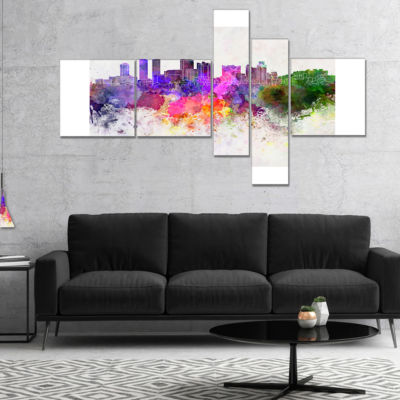 Designart Colombo Skyline Multipanel Cityscape Canvas Artwork Print - 5 Panels