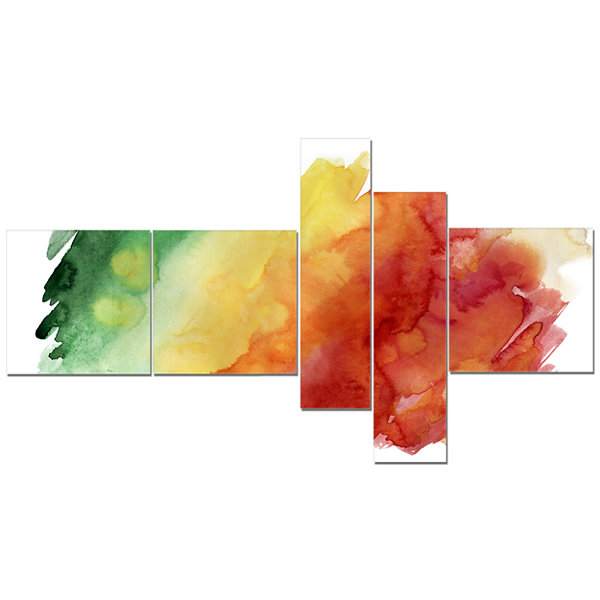 Designart Color Explosion Multipanel Abstract Canvas Art Print - 5 Panels