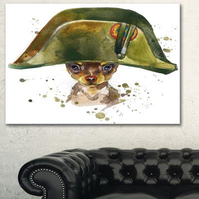 Designart Toy Terrier Dog Graphics Art Animal ArtPainting - 3 Panels