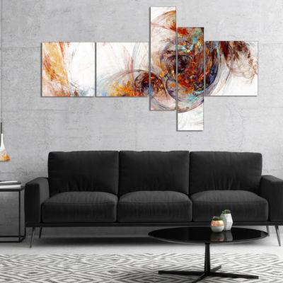 Designart Colored Smoke Brown Multipanel AbstractCanvaS Art Print - 4 Panels