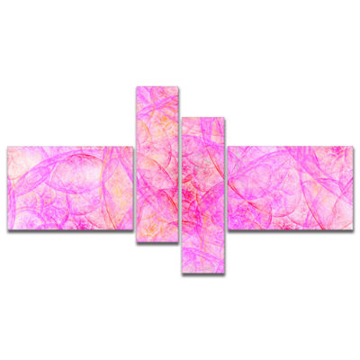 Designart Rose Fractal Dramatic Clouds MultipanelAbstract Canvas Art Print - 4 Panels